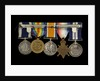 Medals awarded to Chief Petty Officer A. G. Clarke DSM (reverse, r to l, MED1095-1104) by B. Mackennal