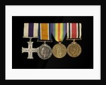 Medals awarded to Sub-Lieutenant Albert E. Dossett MC RNVR (obverse, l to r, MED1500-1503) by unknown
