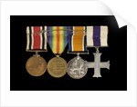 Medals awarded to Sub-Lieutenant Albert E. Dossett MC RNVR (reverse, r to l, MED1500-1503) by unknown