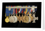 Medals awarded to Vice-Admiral Robert Don Oliver (reverse, r to l, MED2043-2052) by Garrard & Co.
