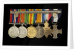 Medals awarded to Lt Cdr Basil N. Downie DSC RN (reverse, r to l, MED1825-1830) by Garrard & Co.