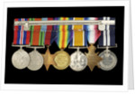 Medals awarded to Percy S. Inge DSM (reverse, r to l, ZBA0315-0321) by B. Mackennal