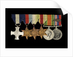 Medals awarded to Cdr Herbert J. P. Crousaz DSC (obverse, l to r, ZBA2252-2257) by unknown
