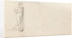 A young man stepping down a step, possibly Horatio Nelson (verso) by Thomas Baxter