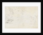 A study in graphite of the bridge and trees from the west (verso) by Thomas Baxter