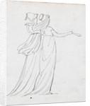 Two women walking, one of them probably Emma Hamilton by Thomas Baxter