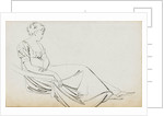 A young woman, seated, probably Charlotte Nelson (recto) by Thomas Baxter