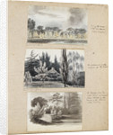 Three view of Merton Place by Thomas Baxter