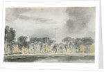 A view across the River Wandle at Merton by Thomas Baxter
