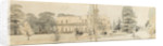 A panoramic view showing the east and north elevations of Merton Place (recto) by Thomas Baxter
