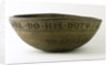 Wooden bowl commemorating Vice-Admiral Horatio Nelson (1758-1805) by unknown