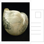 Engraved nautilus shell commemorating Nelson's victories by C. H. Wood