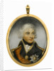 Miniature painting depicting Vice-Admiral Horatio Nelson (1758-1805), head and shoulders, in uniform, facing slightly right by Robert Bowyer