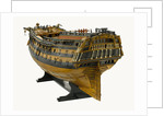 Ship of 74 guns, port stern quarter by unknown