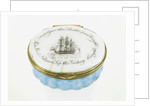 Oval patch box with a mirror inside the lid, commemorating Vice-Admiral Horatio Nelson (1758-1805) and the Battle of Trafalgar, 1805 by unknown