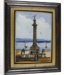 Picture on glass: The Nelson monument at Great Yarmouth by unknown