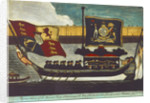 Picture on glass: 'A Correct Representation of the Funeral Barge which conveyed the Body of the Late Lord Nelson from Greenwich to Whitehall Jany. 8th. 1806.' by W.B. Walker