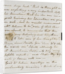 Letter from Lady Nelson to Alexander Davison, page two by Lady Frances Nelson