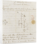 Letter from Lady Nelson to Alexander Davison, back page by Lady Frances Nelson