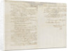 Letter from Decres to L. Bonaparte reporting the losses at the Battle of Trafalgar, 1805 by Louis Decres