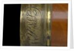 Pocket telescope - lens cap inscription by Godfrey Lyons