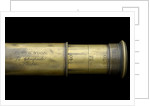 Portable telescope- draw tube inscription by Edward G. Wood