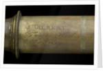 Portable telescope- draw tube inscription by John Gilbert