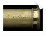 Portable telescope- draw tube inscription by Bate