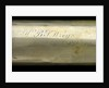 Officer of the Watch telescope- draw tube inscription by H. Ammersley