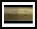 Day or night telescope - inscription by Dollond