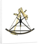 Sextant, brass - Gilbert & Wright - back by Gilbert & Wright