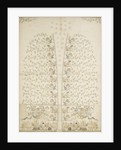 Embroidered panel for a waistcoat by unknown