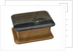 Wooden box lined with grey silk by Royal Naval Brigade personnel