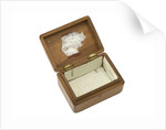 Wooden box lined with grey silk by Royal Naval Division sailor