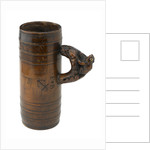 Wooden tankard by unknown