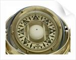 Liquid compass and binnacle by Henry Hughes & Son