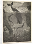 Frontispiece of Jules Verne's 'Twenty Thousand Leagues Under The Sea' by Alphonse-Marie-Adolphe de Neuville