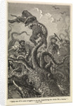 Illustration of giant squid attack from 'Twenty Thousand Leagues Under The Sea' by Alphonse-Marie-Adolphe de Neuville