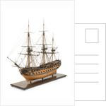 Ship of 60 guns, port three-quarter bow by John Hancock