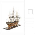 Ship of 60 guns, starboard stern quarter by John Hancock