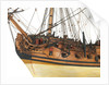 Ship of 60 guns, figurehead, anchors and cannons detail by unknown