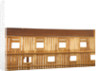 Ship of 74 guns, starboard half-sectional model, inscription plaque by unknown