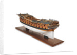 Ship of 64 guns, port stern quarter by unknown
