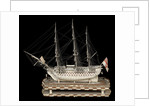 Ship of 120 guns, port broadside by unknown