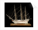 Ship of 100 guns, port broadside by unknown
