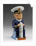 Toby jug modelled as a seated figure of Admiral David, Earl Beatty (1871-1936) by Francis Carruthers Gould