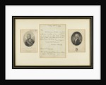 Two portraits and a letter by Admiral Lord Nelson by unknown
