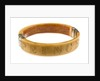 King Aqua Bracelet - View Showing Engraving 'Prince' by unknown