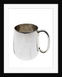Silver-plated tankard commemorating HMS 'Tiger' by unknown