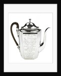 Silver coffee pot presented to the naval physician Dr Thomas Trotter (1760-1832) by Henry Chawner